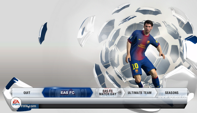 FIFA 13 Review Menu