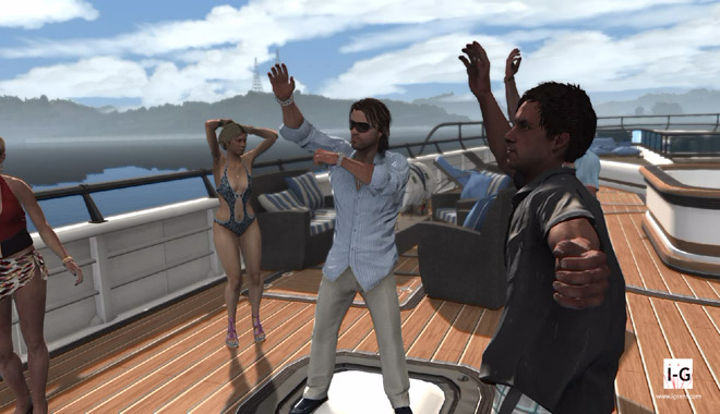 Max Payne 3 - The little brother having some fun with some brazilian ladies on a boat